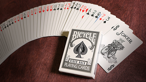 Bicycle Colored Rider Back Silver Playing Cards