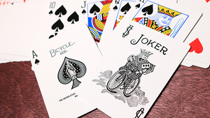 Bicycle Colored Rider Back Gold Playing Cards