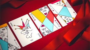Red Stripe Playing Cards