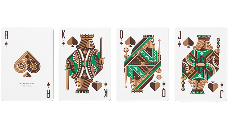 DKNG Green Wheels Playing Cards