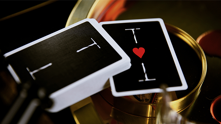 New T Black Playing Cards