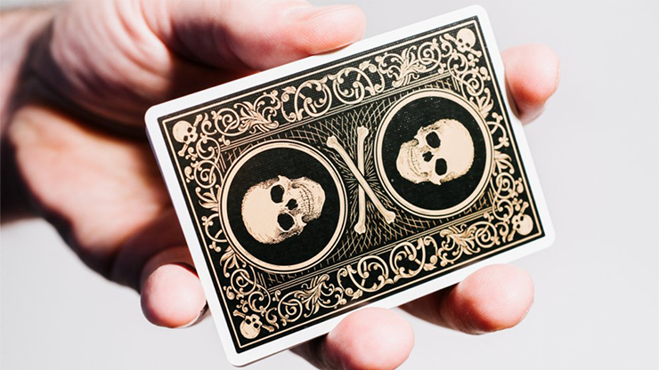 Superior Skull and Bones Black and Gold Playing Cards