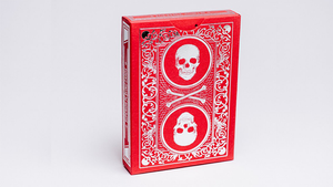 Superior Skull and Bones Red and Silver Playing Cards