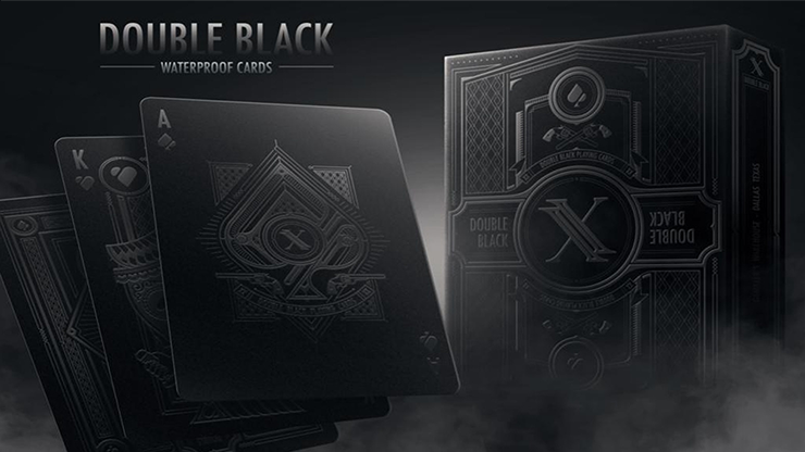 Double Black (Plastic) Playing Cards
