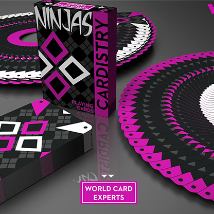 Cardistry Ninja Wildberry Playing Cards