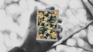 Flora Black Playing Cards