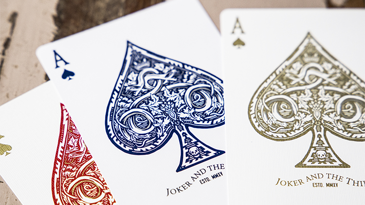 Joker and the Thief White Gold Edition Playing Cards