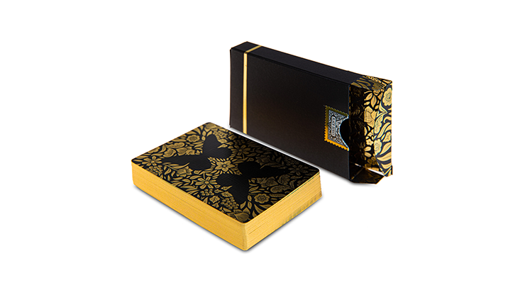 Butterfly Black and Gold (Unmarked) Playing Cards