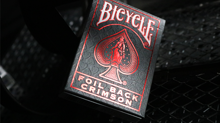Bicycle Rider Back Luxe Crimson v2 Playing Cards