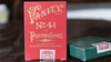 No. 41 Vanity Red Playing Cards