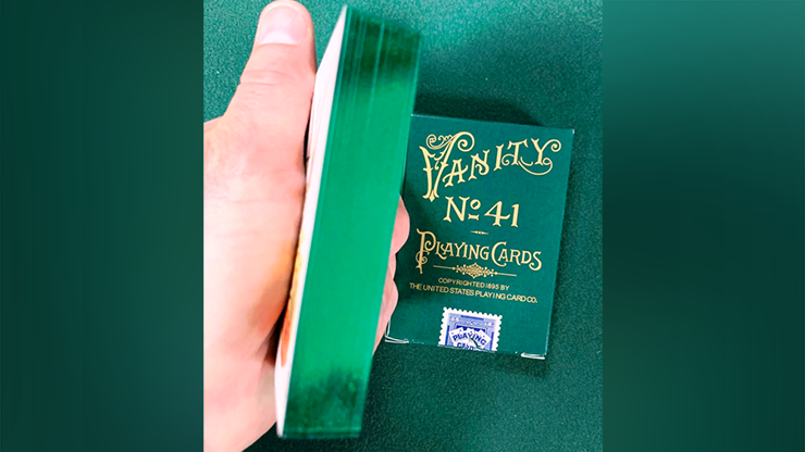No. 41 Vanity Gilded Green Playing Cards