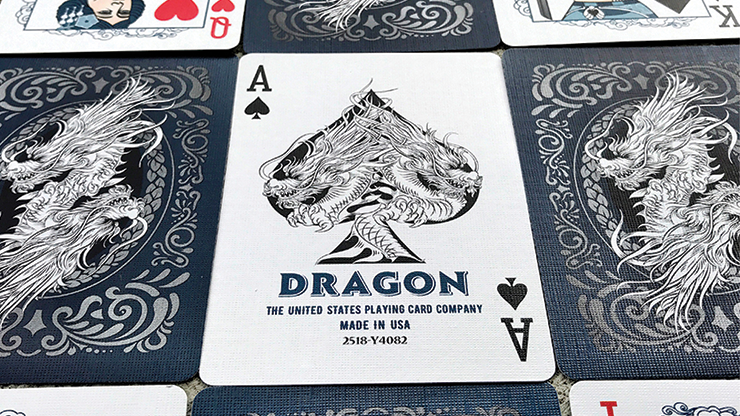 Bicycle Dragon Blue Playing Cards