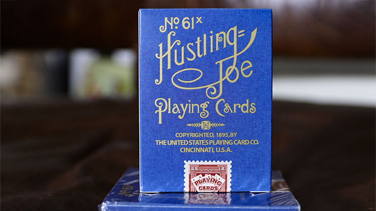 No. 17 Hustling Joe Blue Playing Cards