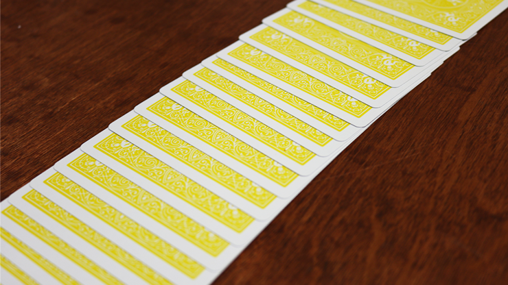 Bicycle Colored Rider Back Yellow Playing Cards