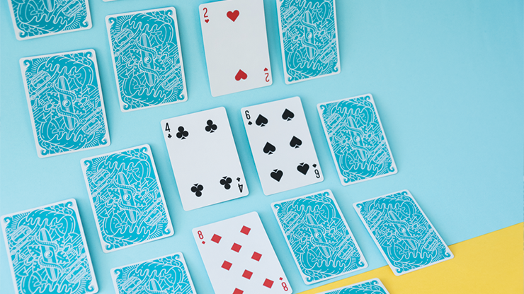 Surfboard Blue (Marked) Playing Cards