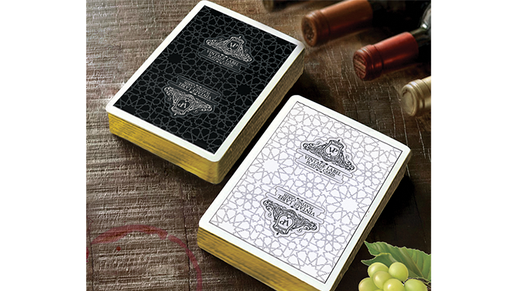 Vintage Label Gold Gilded Black Edition Playing Cards