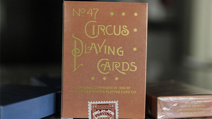 No. 47 Circus Peach Playing Cards