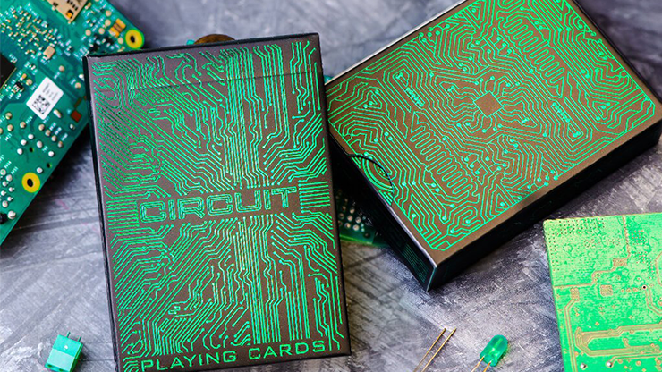 Circuit Green Playing Cards