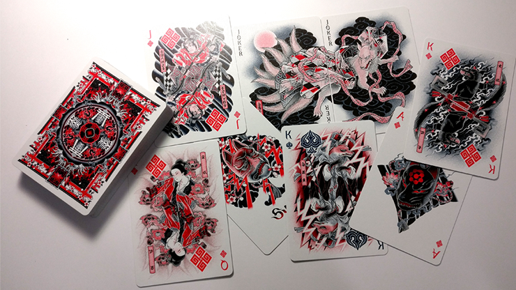 Bicycle Sumi Kitsune Tale Teller Playing Cards