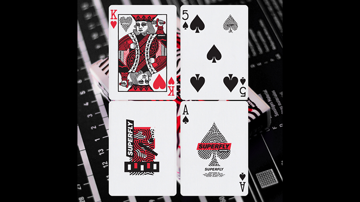 Superfly Spitfire Red Playing Cards