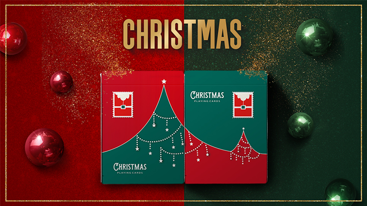 Christmas Red Playing Cards