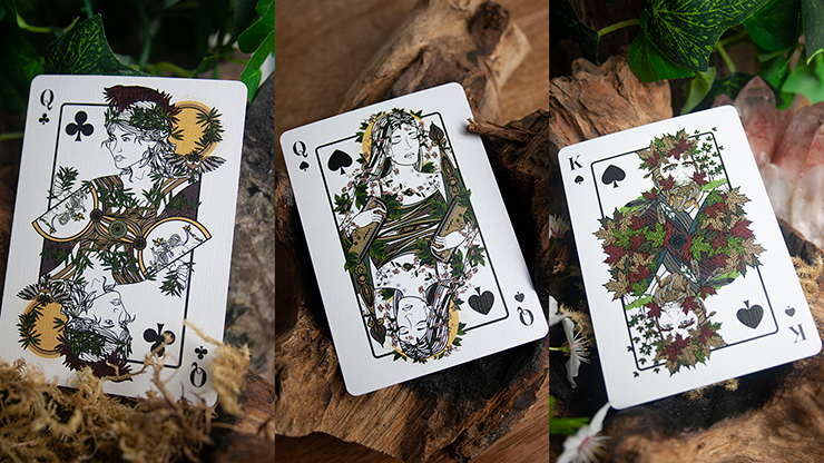 Green Man Spring Playing Cards