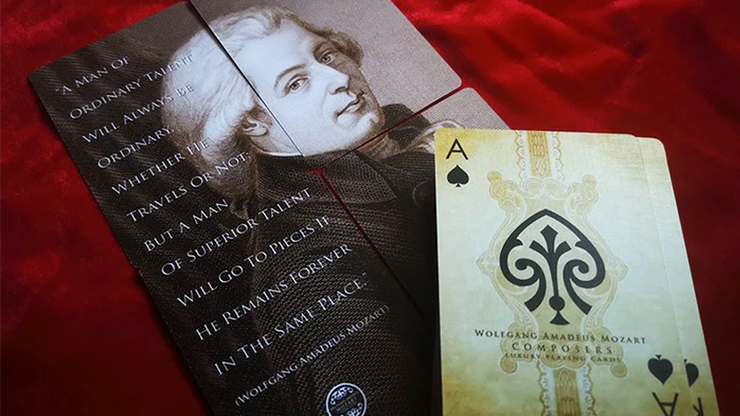 Composers Wolfgang Amadeus Mozart Playing Cards