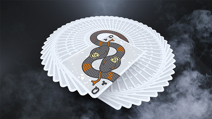 Serpent White Playing Cards