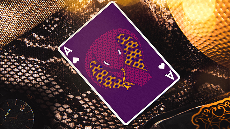 Serpent Purple Playing Cards