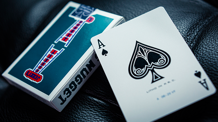 Jerry's Nugget Vintage Feel Aqua Playing Cards