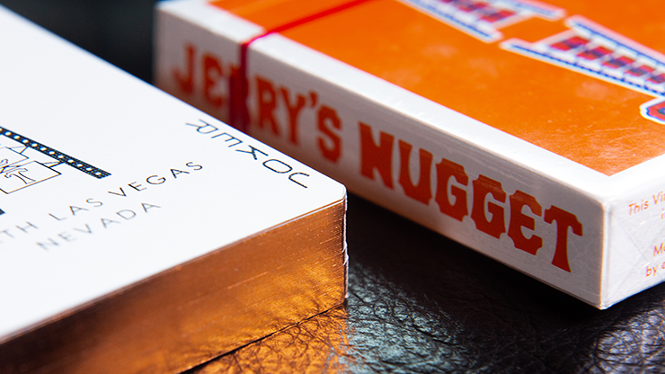 Jerry's Nugget Vintage Feel Gilded Orange Playing Cards