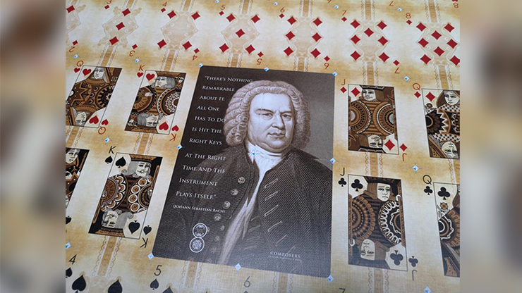 Composers Johann Sebastian Bach Playing Cards