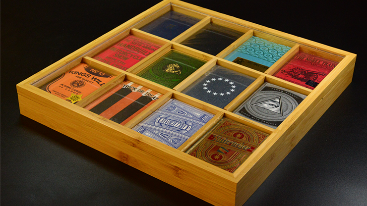 Playing Cards Bamboo Display Case 4 x 3 (12 Deck)