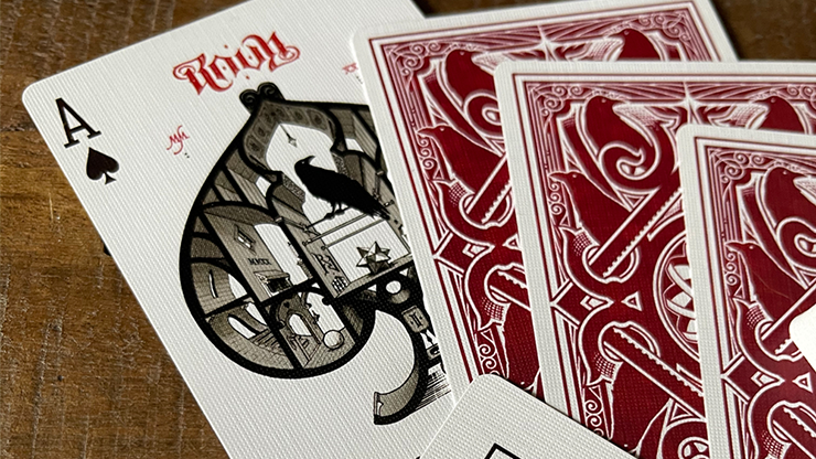 Ravn IIII Red Playing Cards