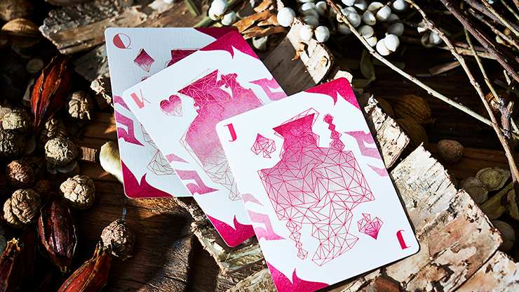 Lonely Wolf Pink Playing Cards