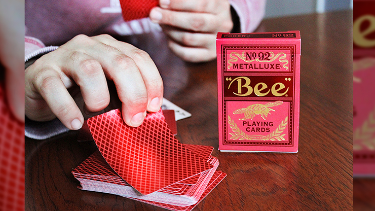 Bee MetalLuxe Red Playing Cards