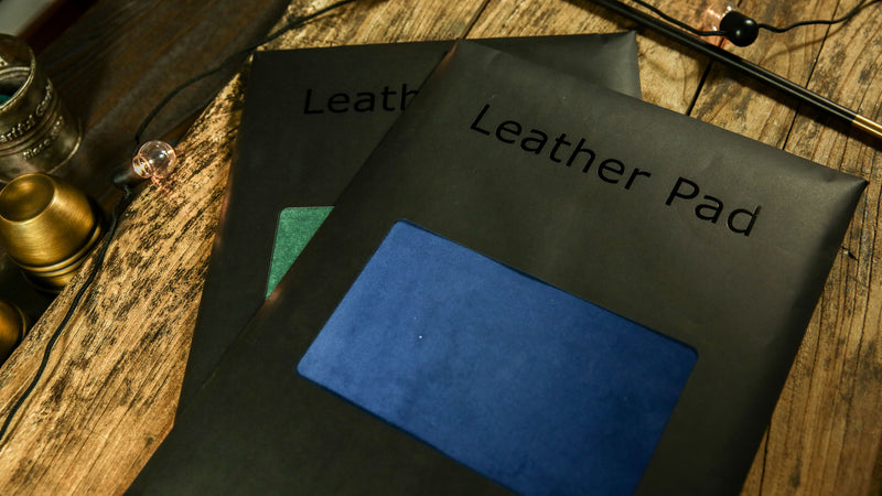 "Close-Up Pad Leather 7.5"" x 11.5"" Blue"