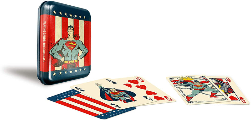 DC Super Heroes Superman Tin Playing Cards