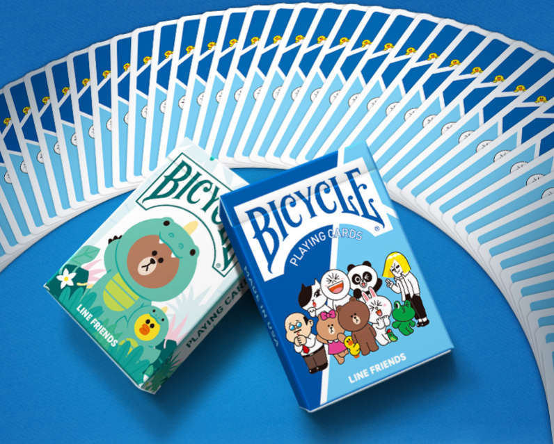 Bicycle Line Friends Set Playing Cards (2 Decks)