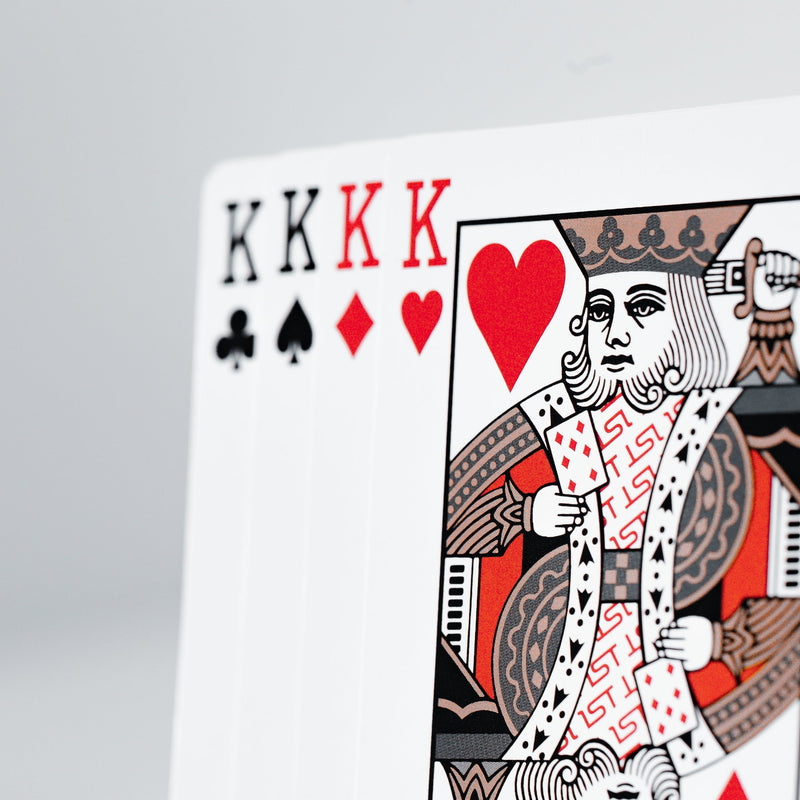 1st v4 Black Playing Cards