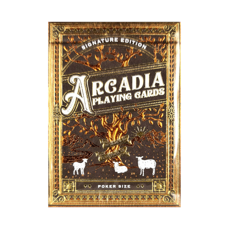 Arcadia Signature Edition Brown Playing Cards