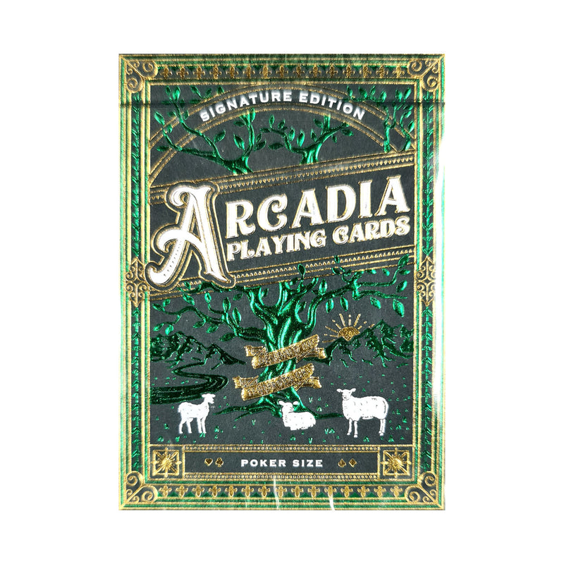 Arcadia Signature Edition Green Playing Cards