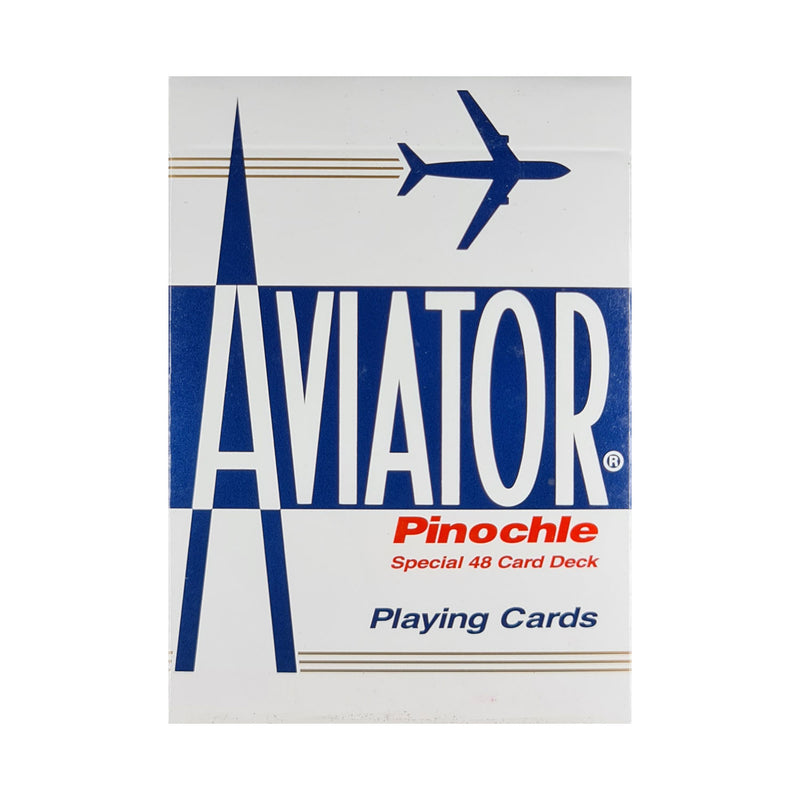 Aviator Pinochle Blue Playing Cards