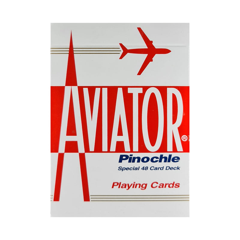 Aviator Pinochle Red Playing Cards