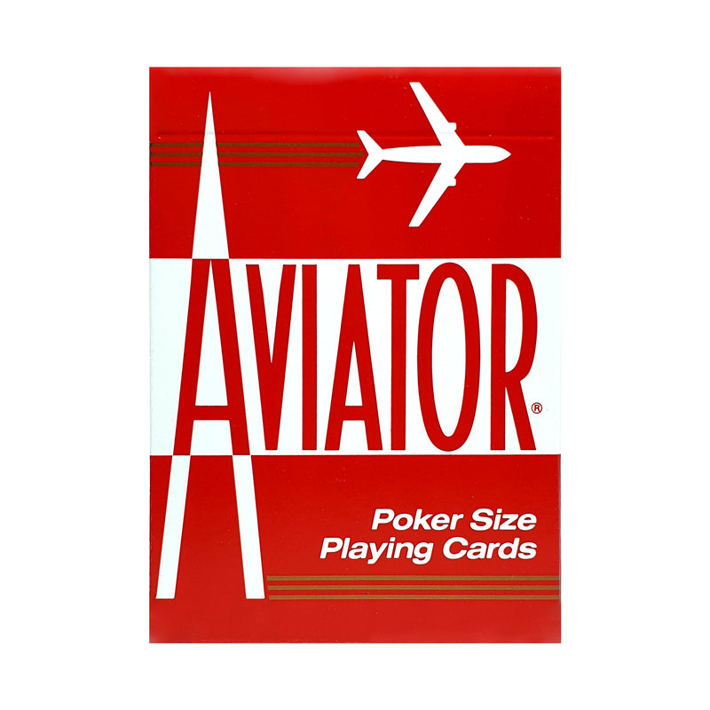 Aviator Standard Red Playing Cards