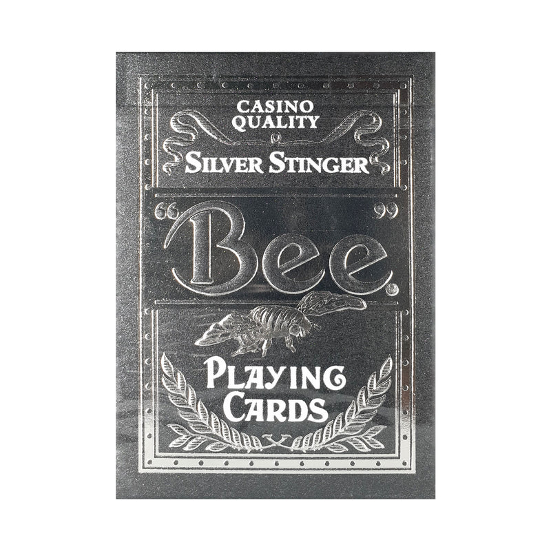 Bee Stingers Silver Playing Cards