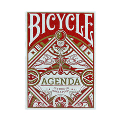 Bicycle Agenda Red Playing Cards