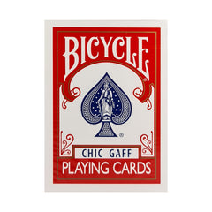 Bicycle Chic Gaff Red Playing Cards (Instructions and Gimmick)