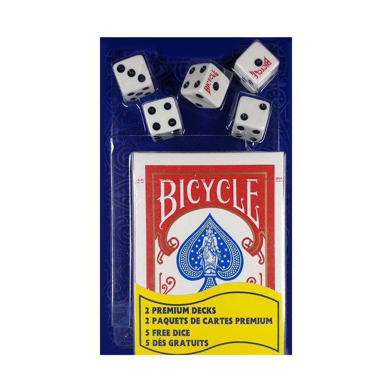Bicycle Rider Backs with 5 Dice Set of Playing Cards
