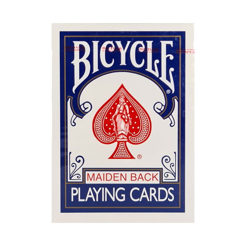 Bicycle Maiden Back Blue Playing Cards